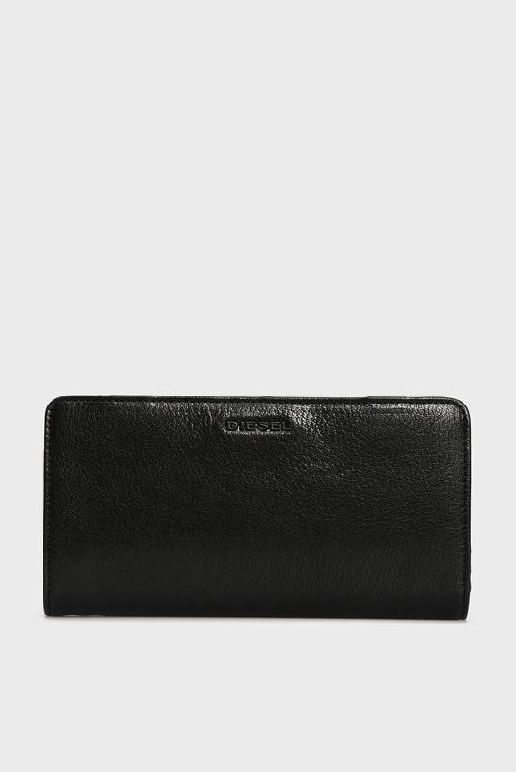 Мужской черный кожаный кошелек THESTARTER
