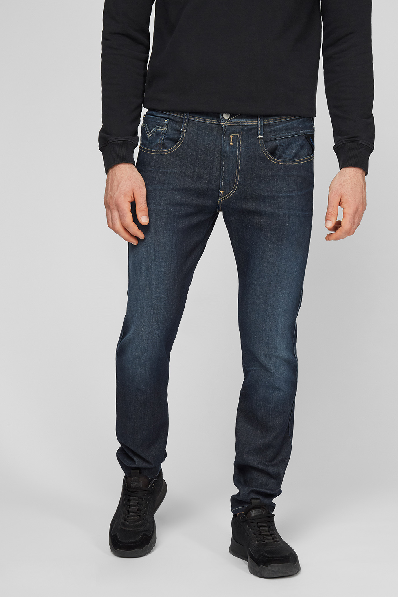 Мужские темно-синие джинсы Hyperflex Anbass 1