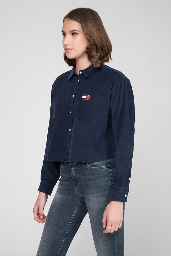 Женская темно-синяя вельветовая рубашка TJW WASHED CORD