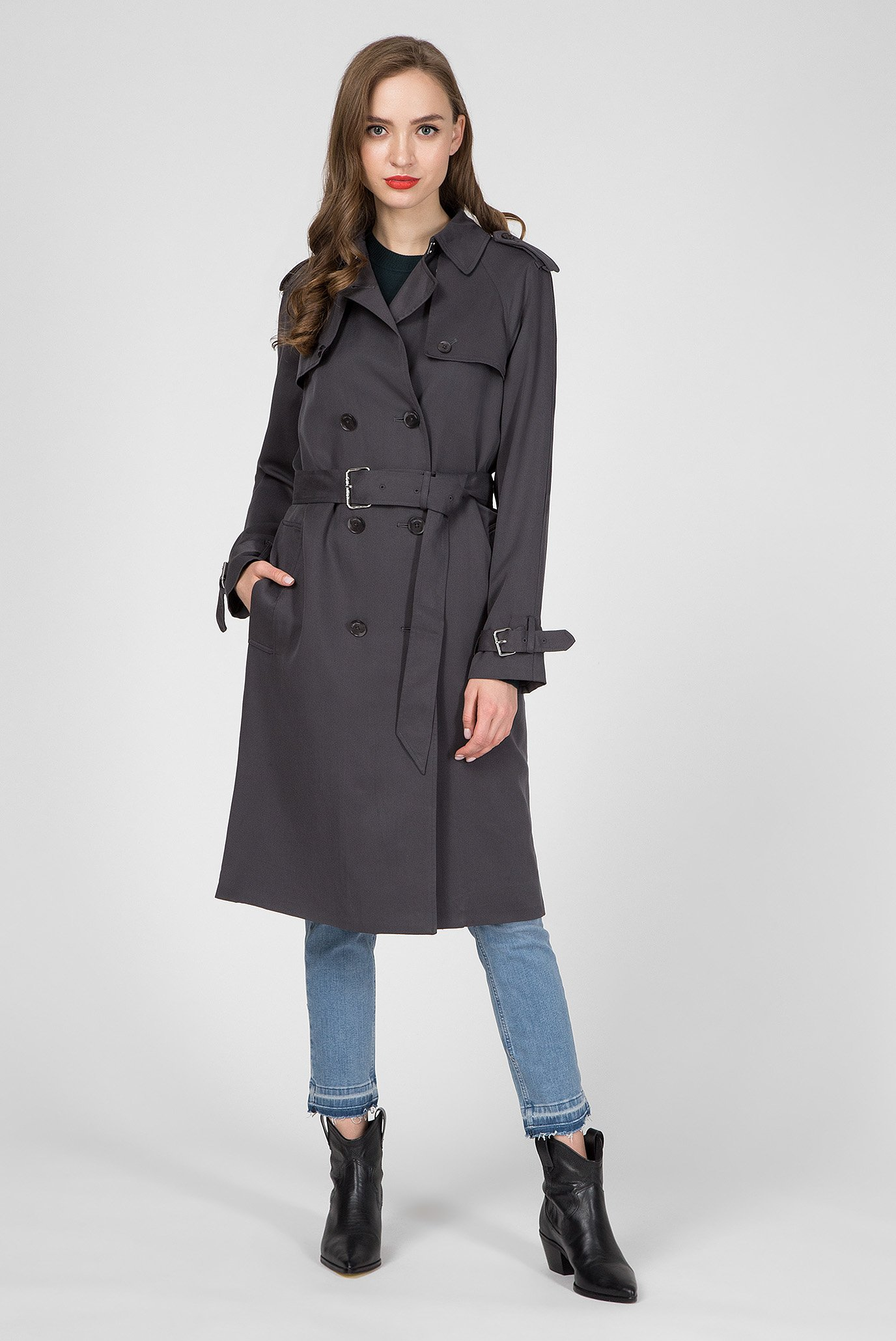 Женский темно-серый тренч TRANSSEASONAL Calvin Klein K20K201690 — MD-Fashion