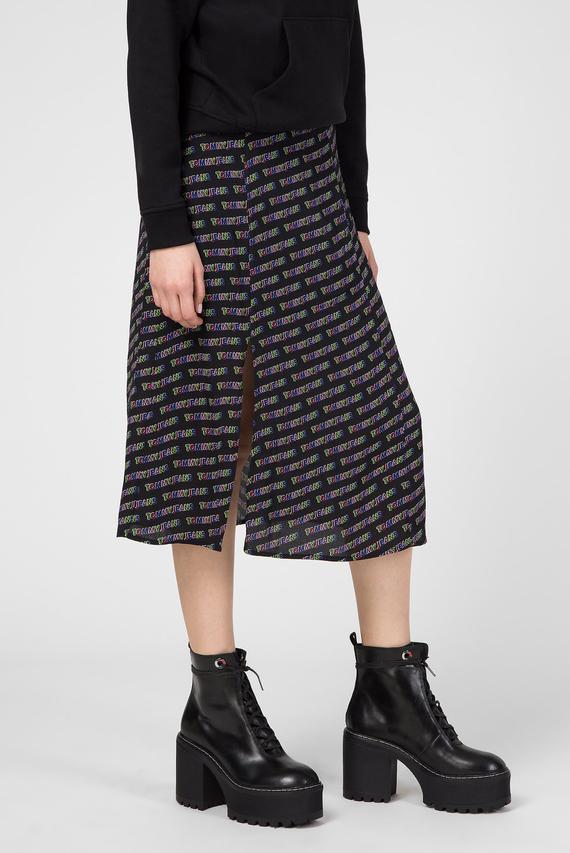 Женская черная юбка с принтом TJW OUTLINE