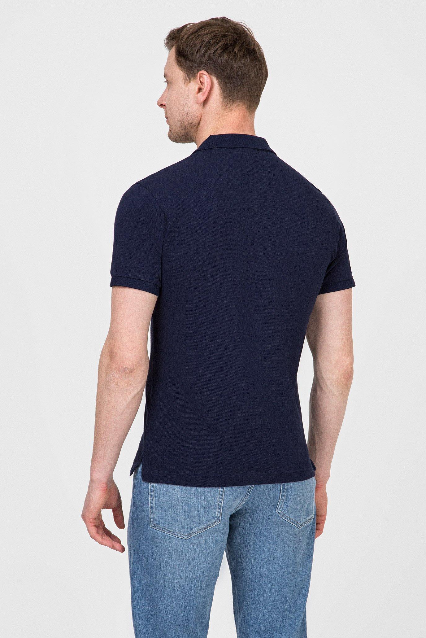 Мужское темно-синее поло LM Gant