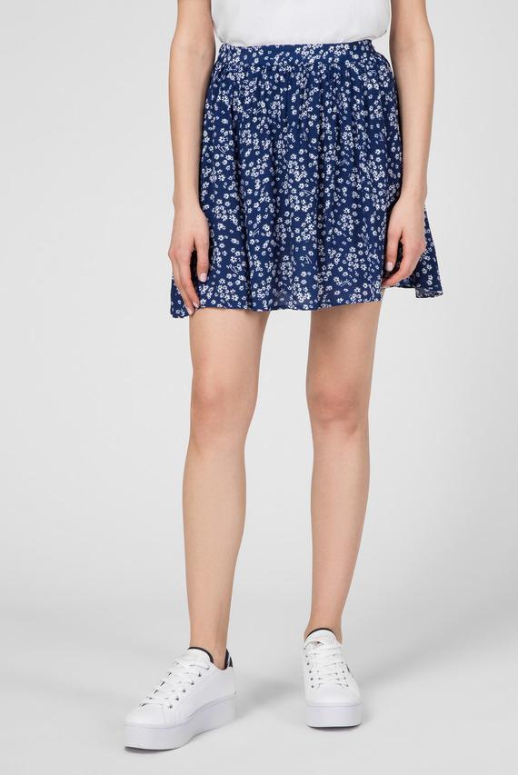 Женская синяя юбка TJW GATHERED MINI
