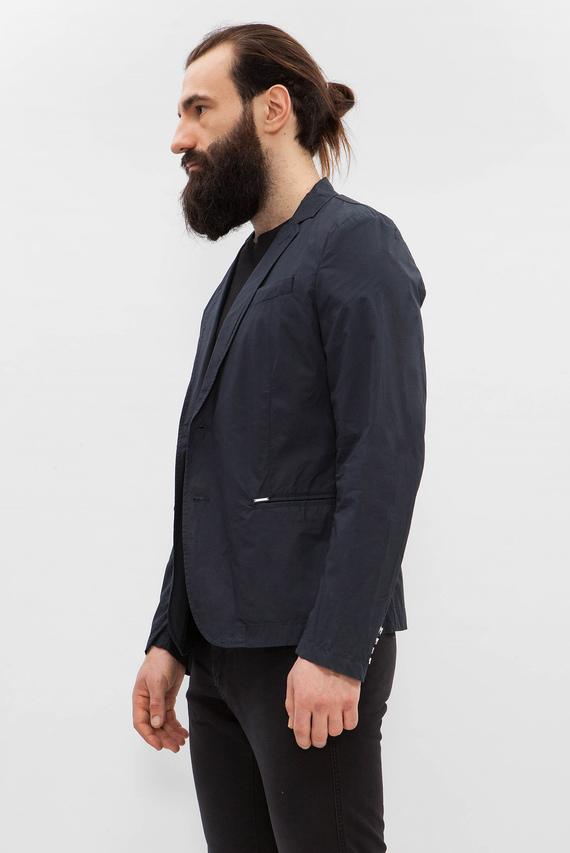 Мужской синий удлиненный пиджак J-Euse Giacca
