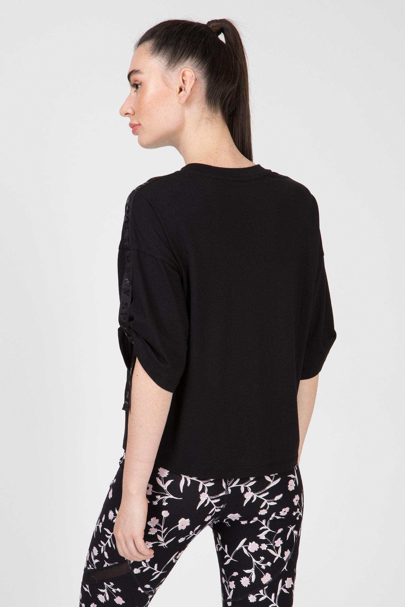 Купить Женская черная футболка BOXY CREW SS DKNY DKNY DP9T6386 – Киев, Украина. Цены в интернет магазине MD Fashion