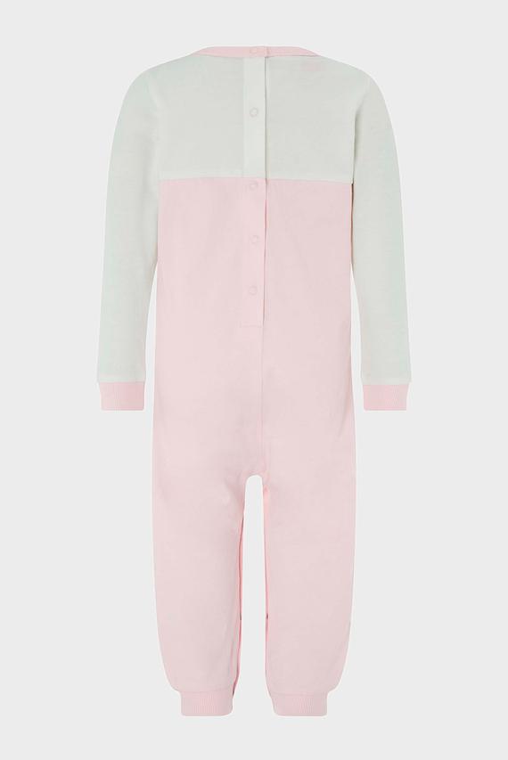Детская розовая пижама BABY OWL SLEEPSUIT