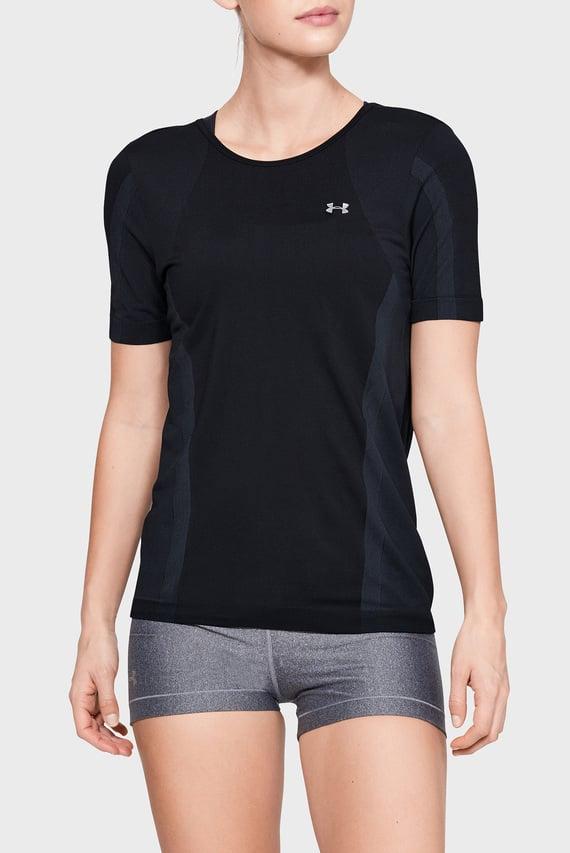 Женская черная футболка UA Vanish Seamless SS Keyhole