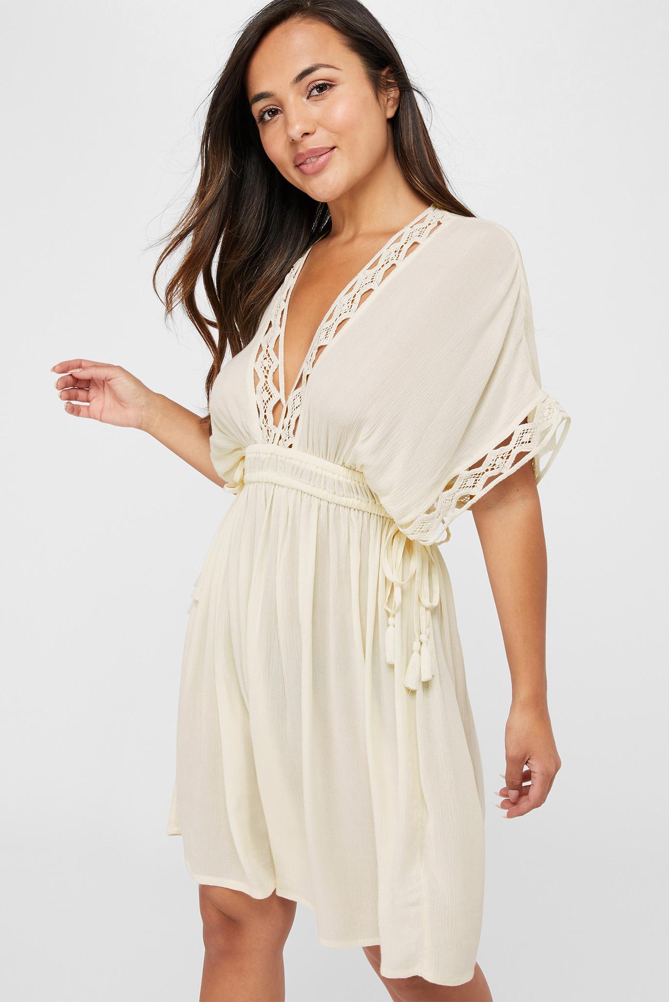 Жіноча біла сукня GEO LACE KAFTAN 1