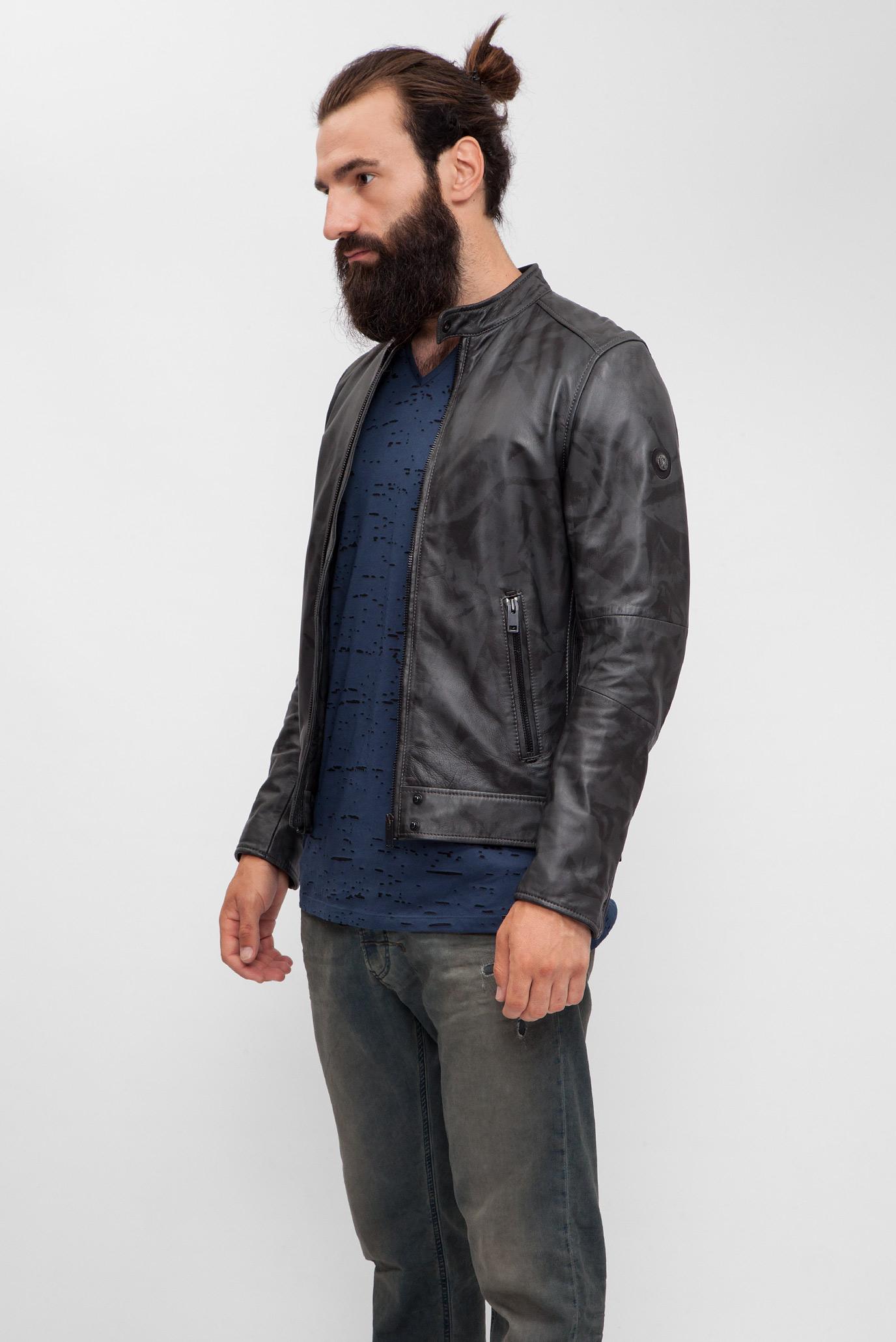 Купить Мужская черная кожаная куртка Diesel Diesel 00SW0U 0DAOS – Киев 18774fc56f3ce