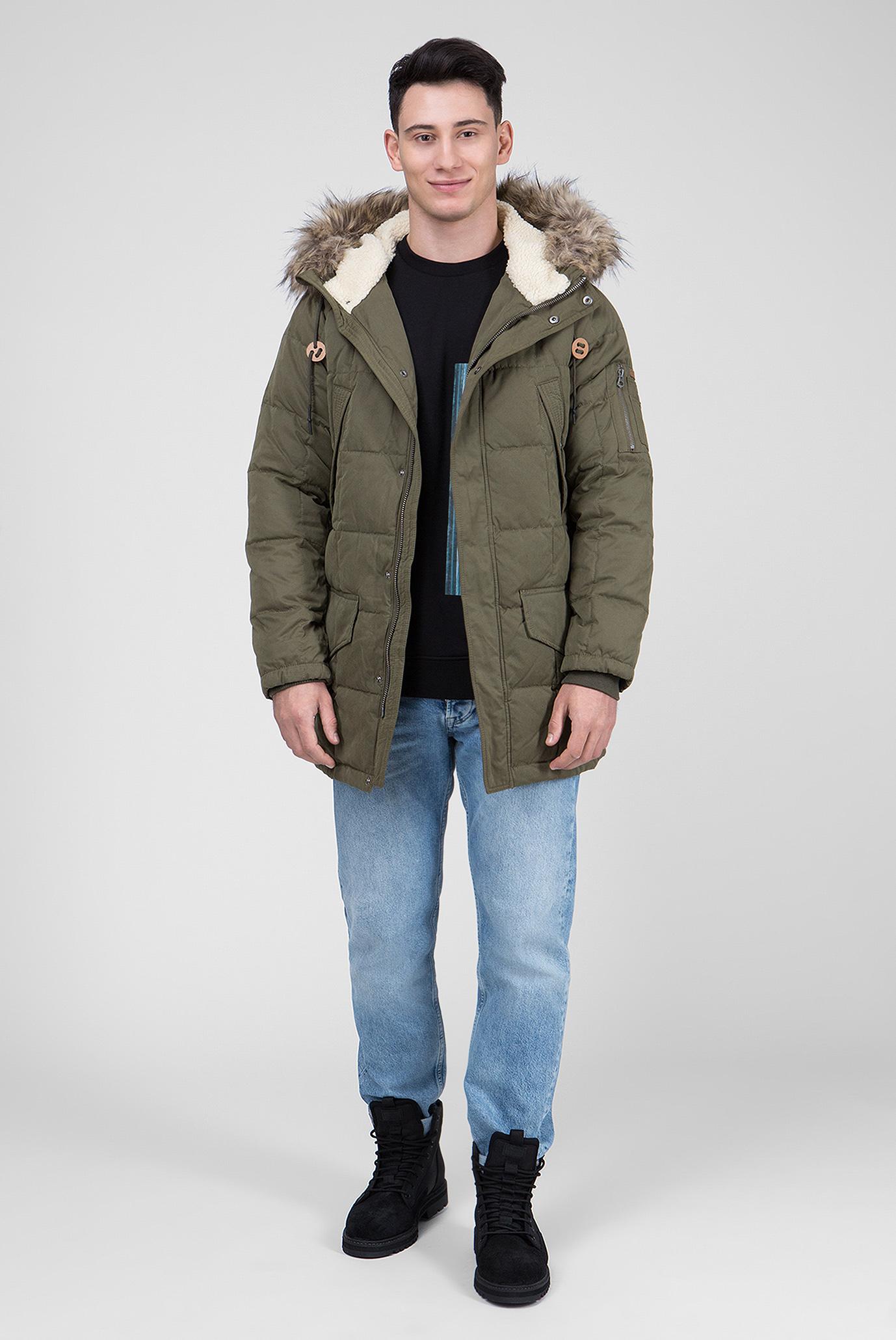 Купить Мужская зеленая пуховая парка WOODLANDS Pepe Jeans Pepe Jeans PM401932 – Киев, Украина. Цены в интернет магазине MD Fashion