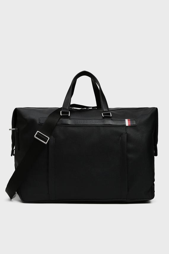 Мужская черная дорожная сумка COATED CANVAS DUFFLE