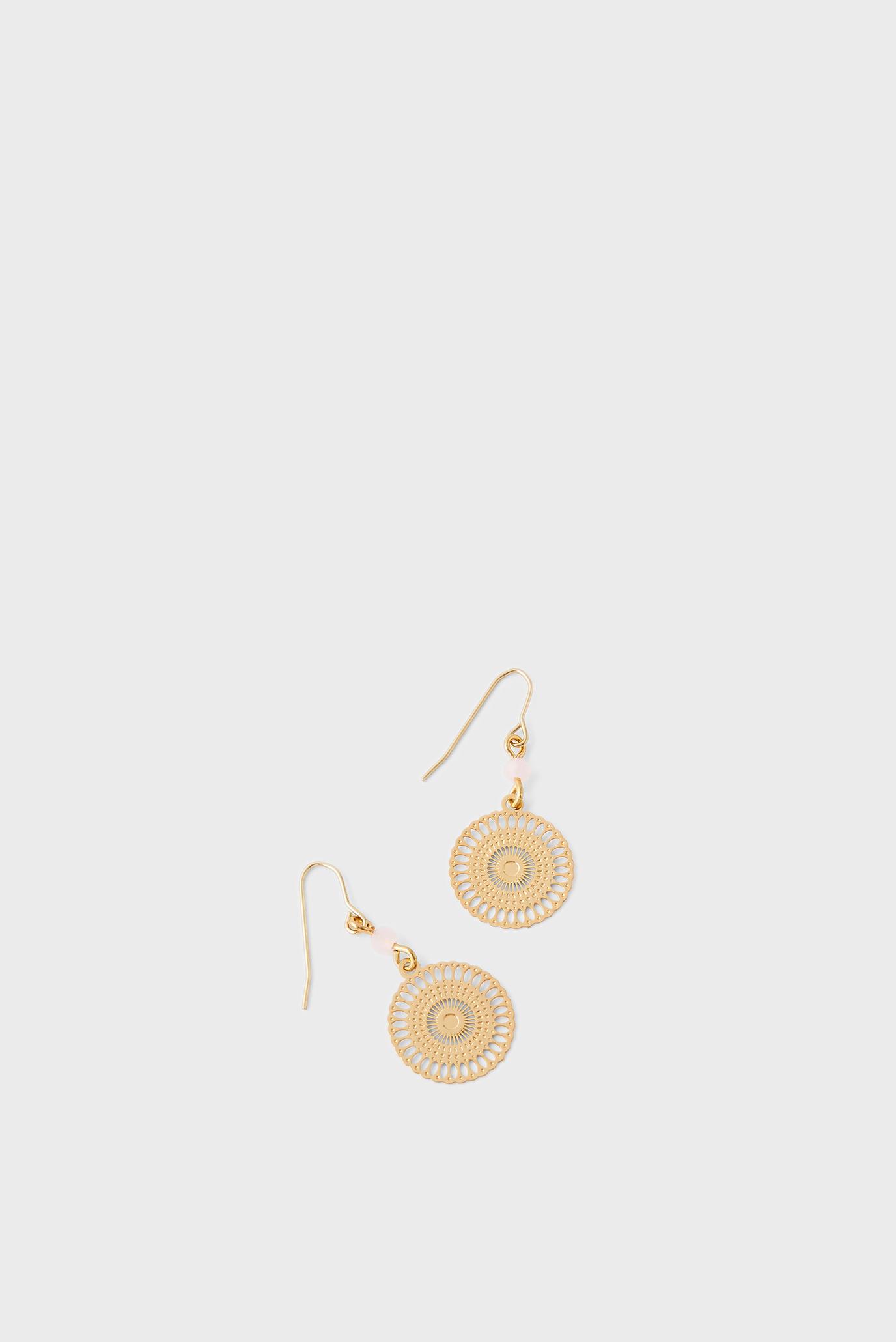 Жіночі золотисті сережки FILIGREE & FACET DRO 1
