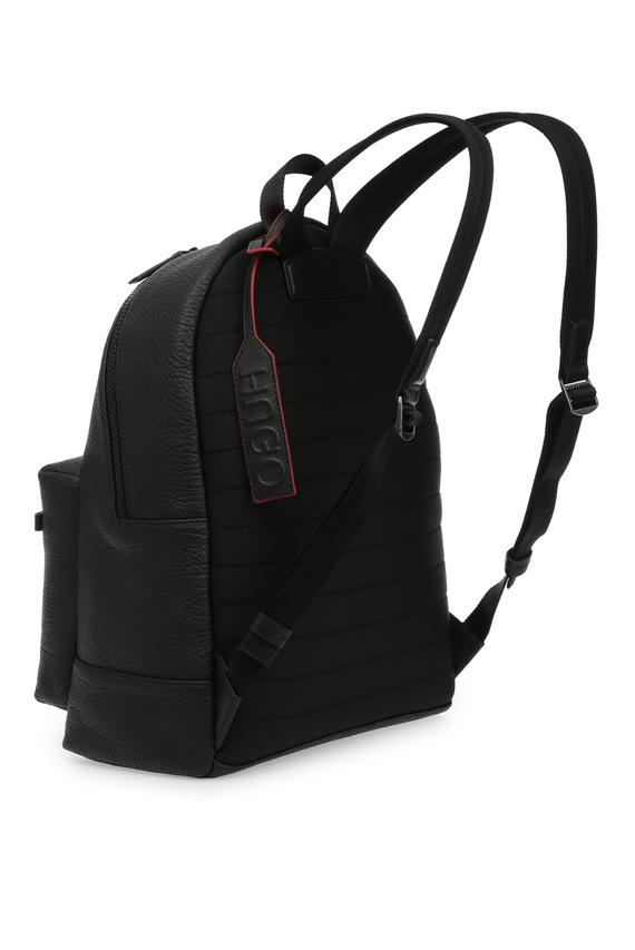 Мужской темно-серый кожаный рюкзак