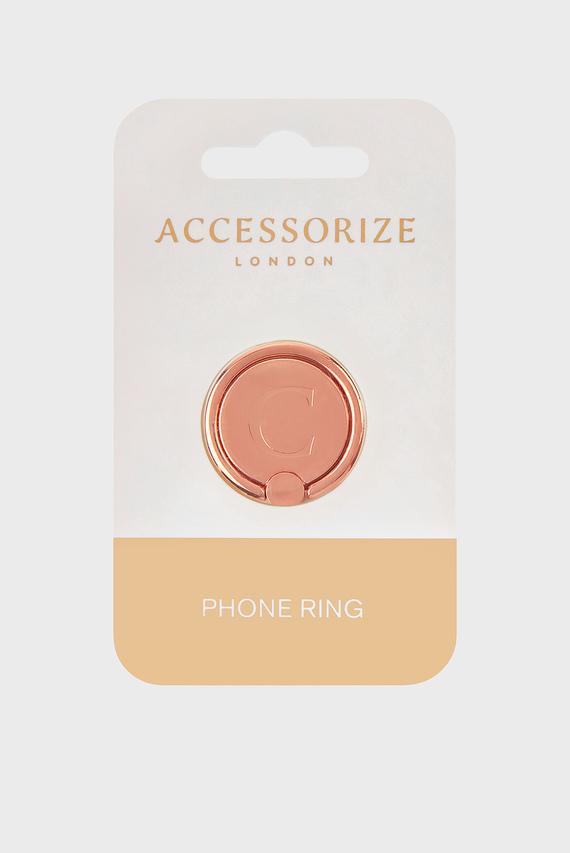 Золотистый аксессуар для телефона Initial Phone Ring C