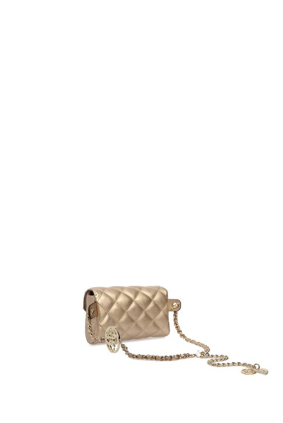 Женская золотистая поясная сумка