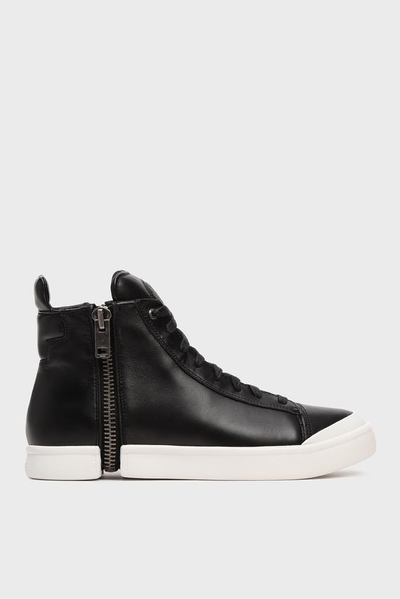 Мужские черные кожаные хайтопы S-NENTISH