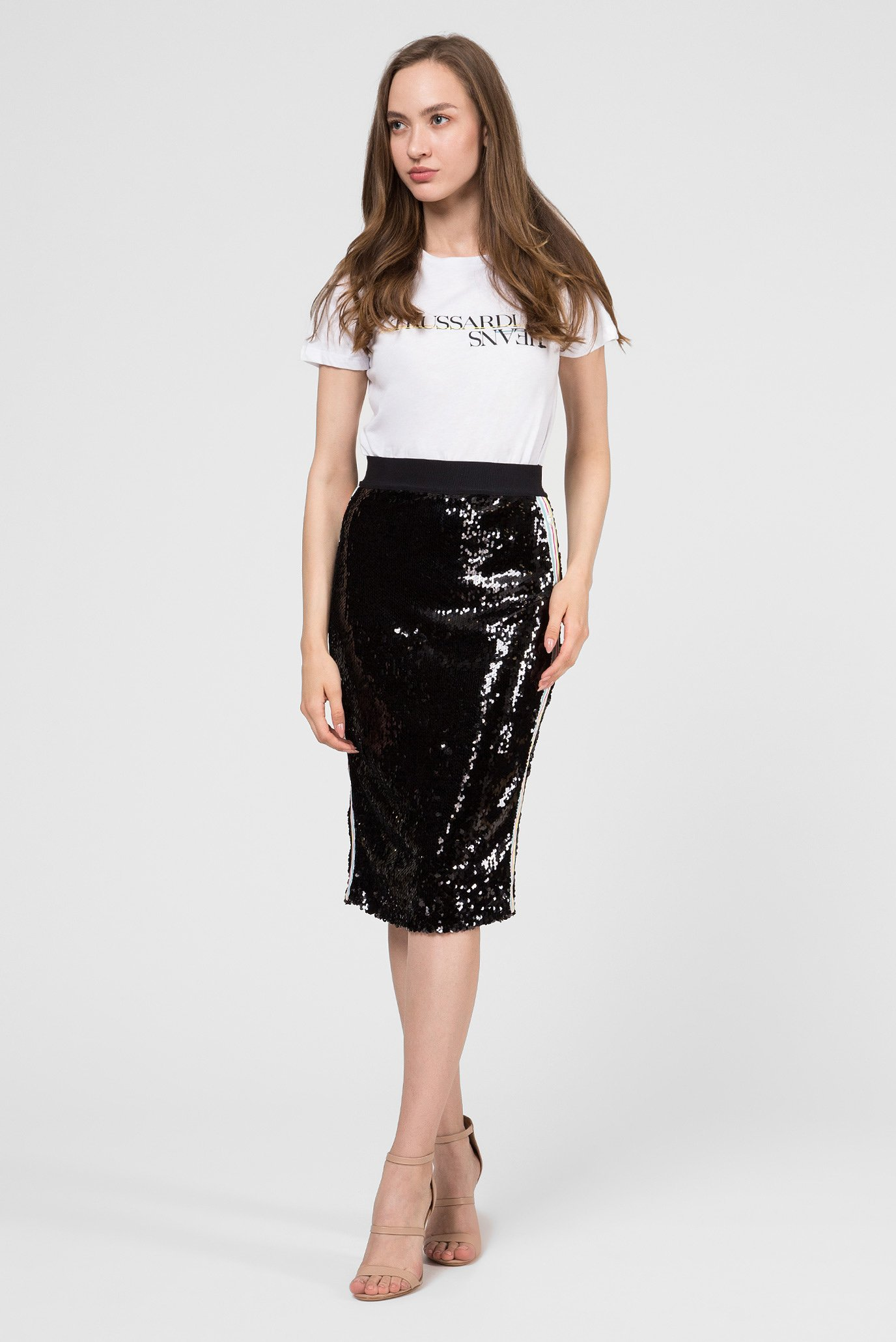 Купить Женская черная юбка Trussardi Jeans Trussardi Jeans 56G00075-1T002308 – Киев, Украина. Цены в интернет магазине MD Fashion