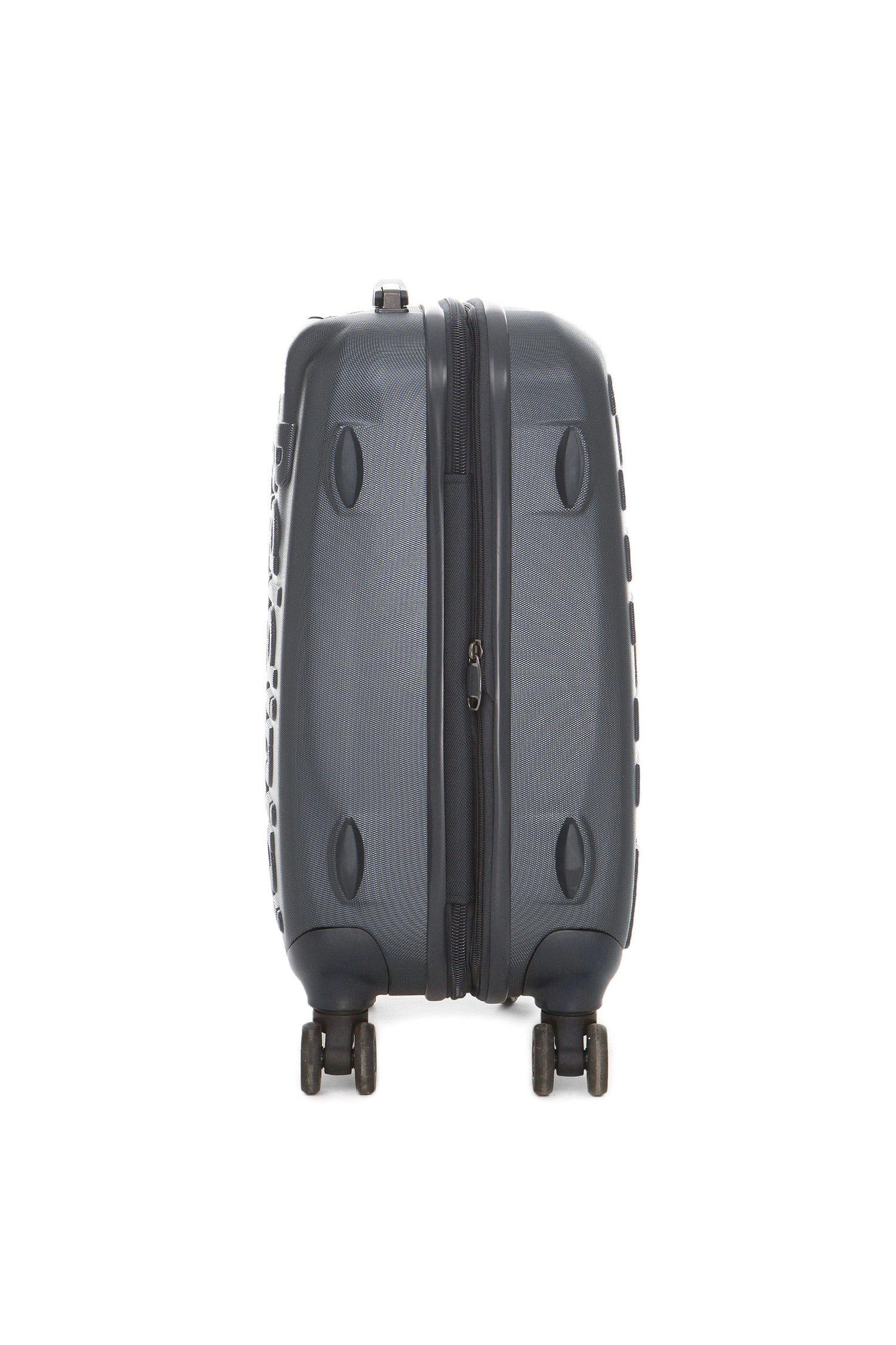 Синий пластиковый чемодан на колесиках Baldinini