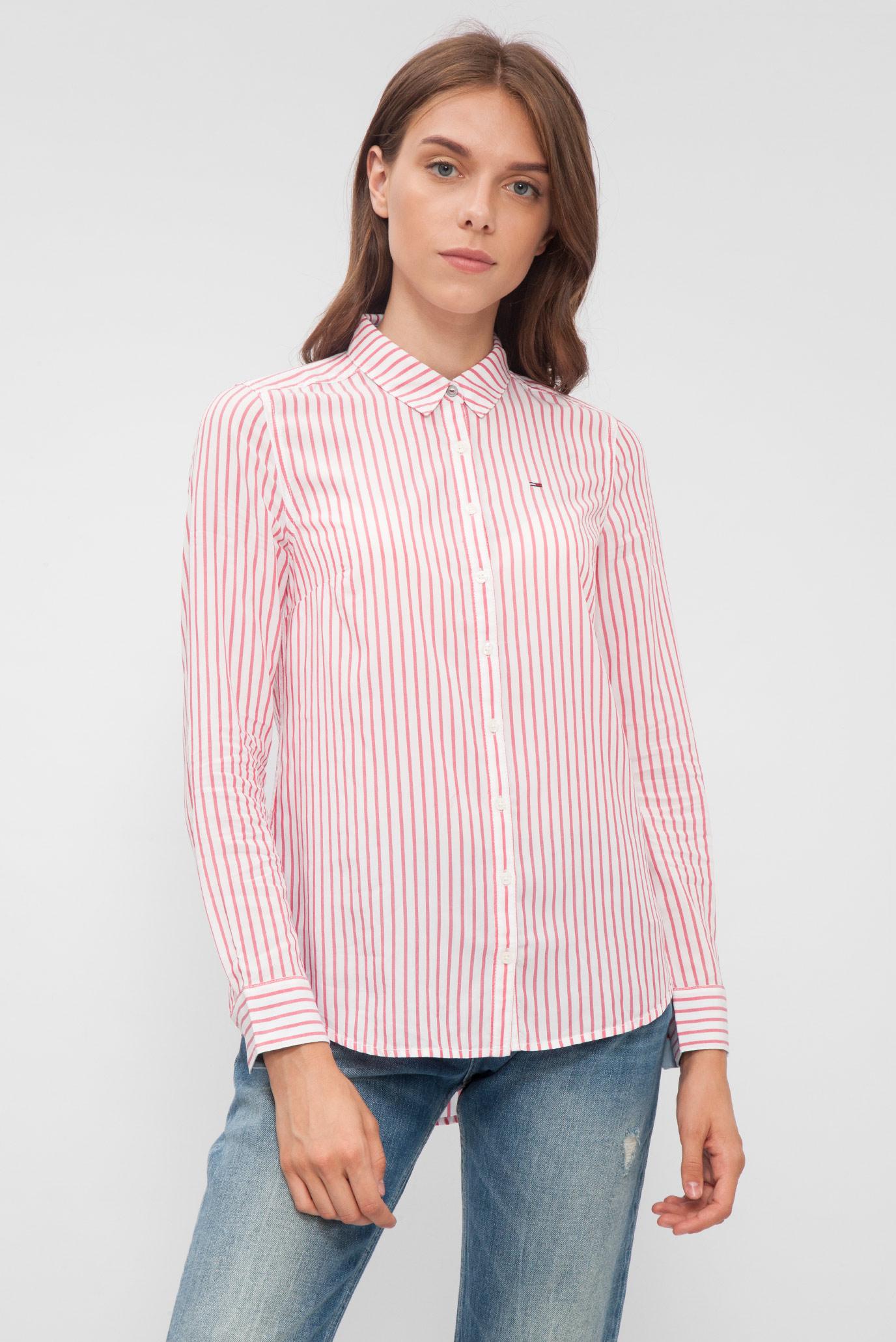 e17b92aa18c Купить Женская розовая рубашка в полоску Tommy Hilfiger Tommy Hilfiger  DW0DW02279 – Киев