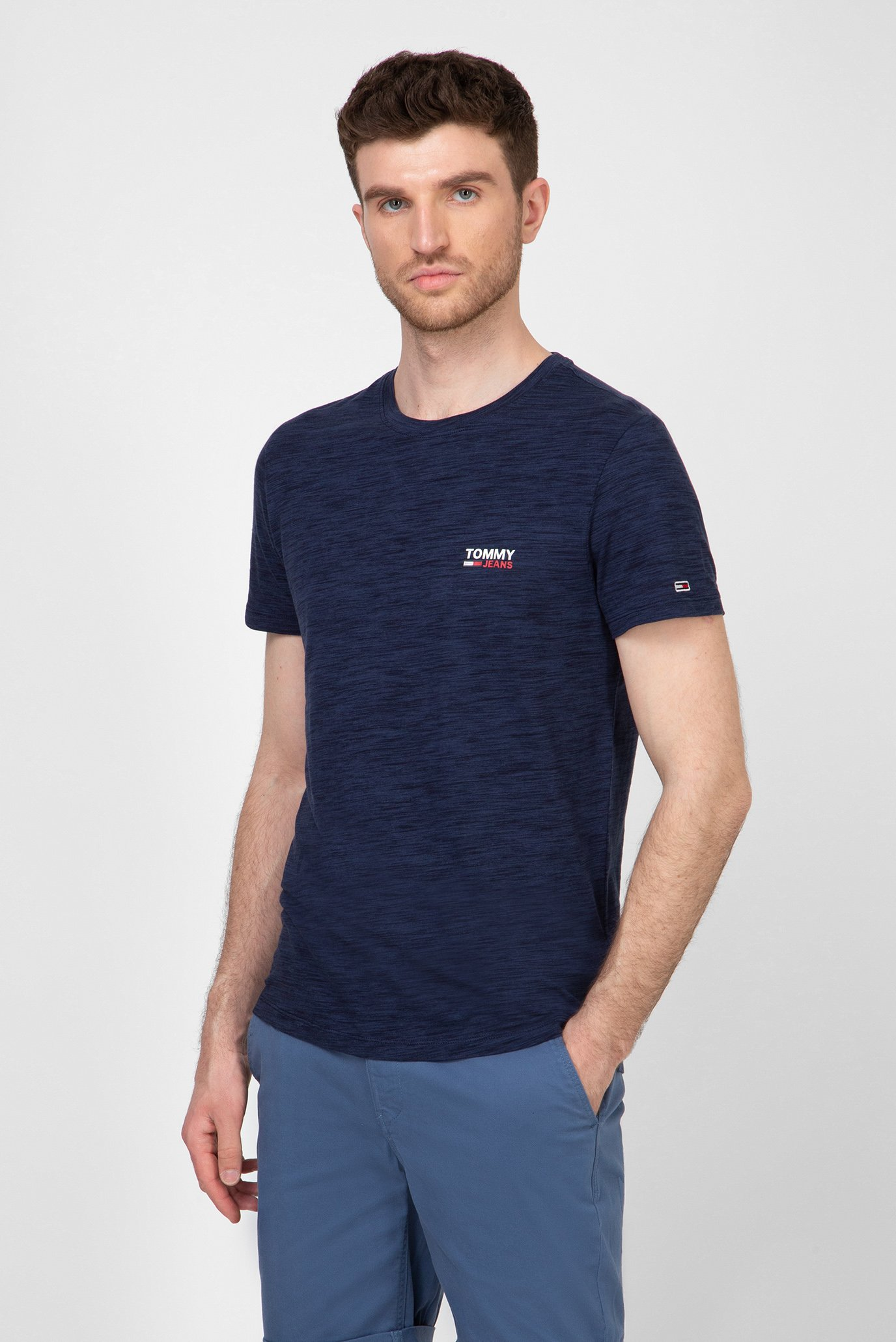 Чоловіча темно-синя футболка TJM TEXTURE LOGO Tommy Hilfiger