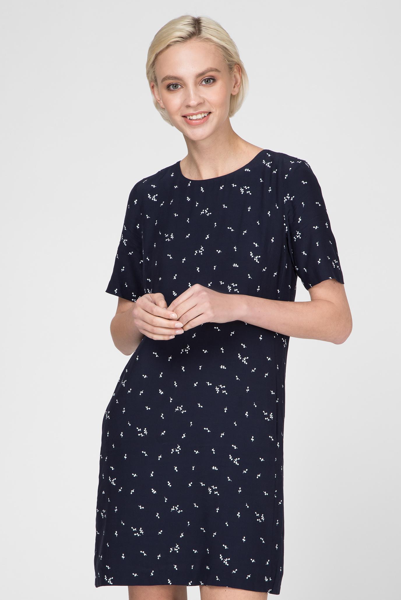 53b775e2a2af Купить Женское темно-синее платье MICROFLOWER PRINT Gant Gant ...
