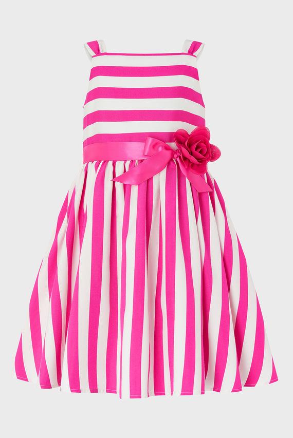 Детское розовое платье RIBBON STRIPE