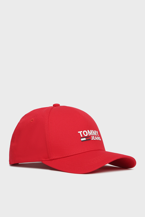 Мужская красная кепка TJM LOGO