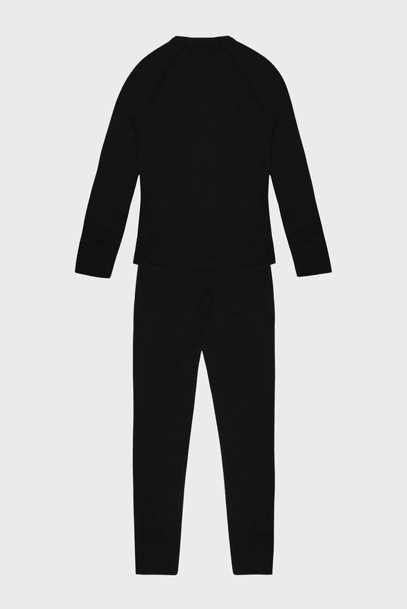 Детское черное термобелье (лонгслив, брюки) JUNIOR UNDERWEAR