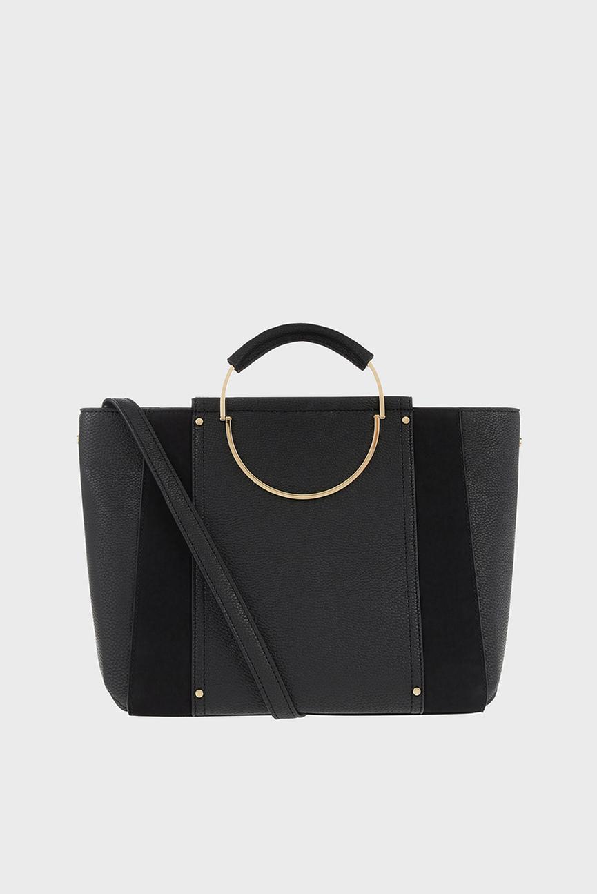 Женская черная сумка через плечо DORRIS CIRCLE