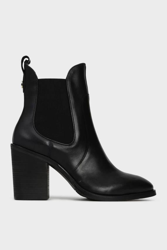 Женские черные кожаные челси COLOR BLOCK