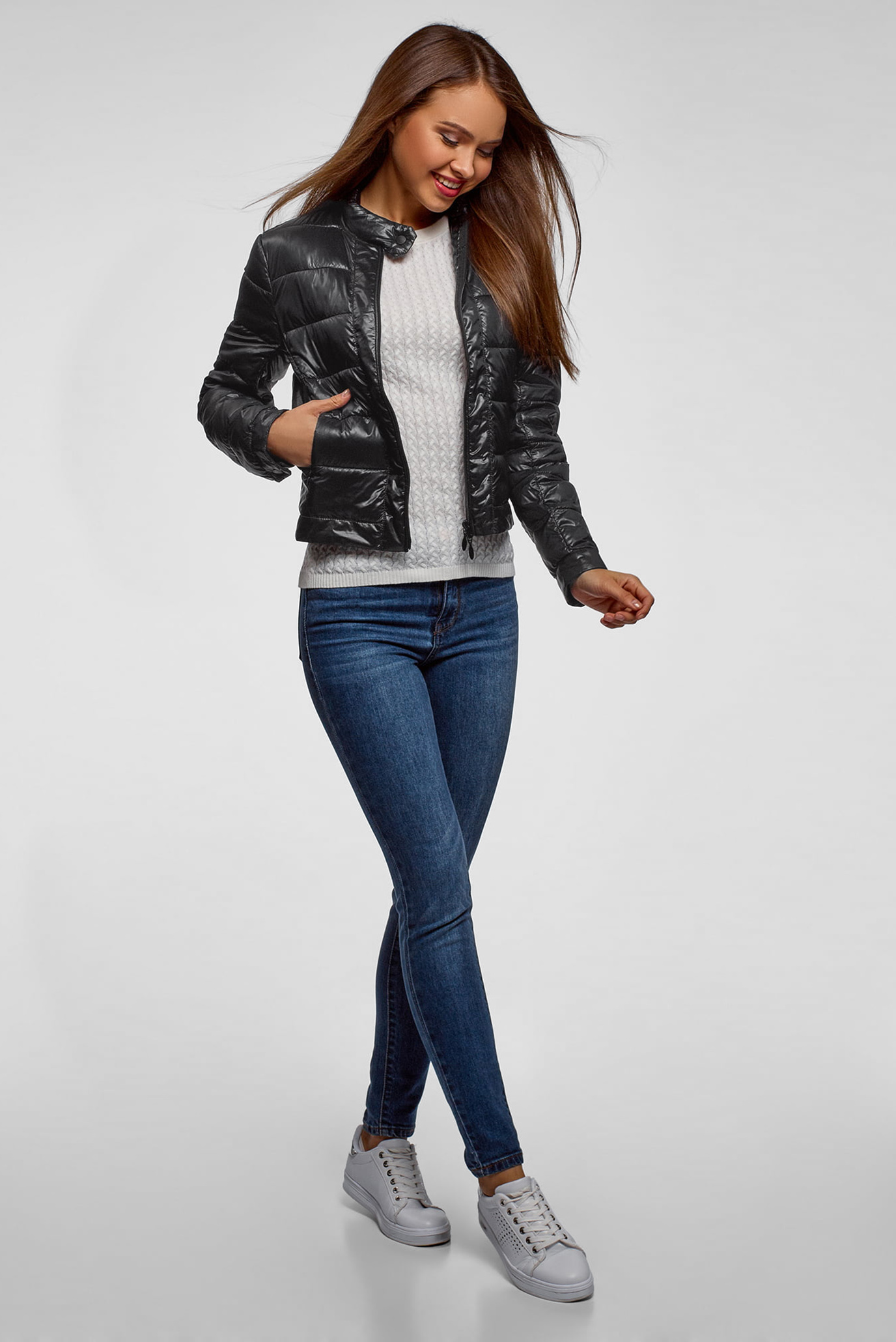Купить Женская черная куртка Oodji Oodji 10203038-5B/33445/2900N – Киев, Украина. Цены в интернет магазине MD Fashion
