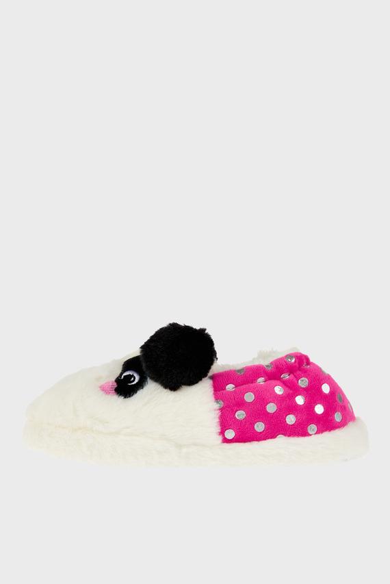 Детские белые домашние тапочки PIPPA PANDA SLIPPER