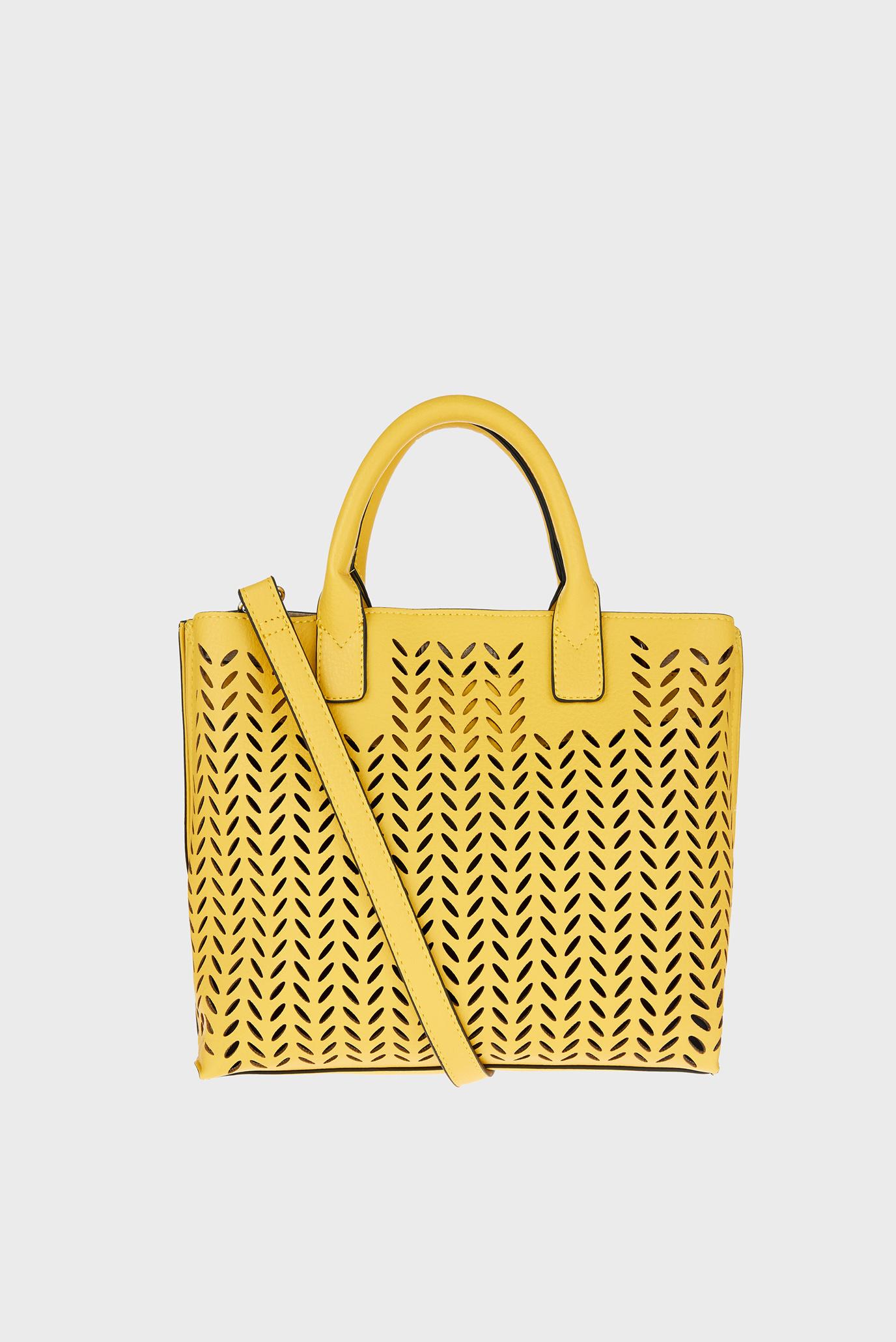 Жіноча жовта сумка Cut Out Handheld 1