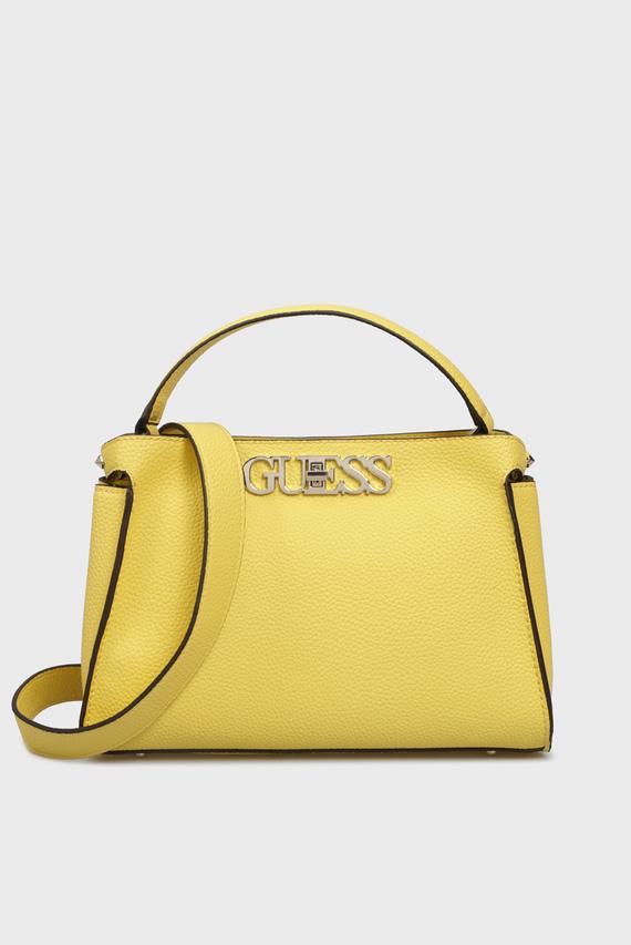 Женская желтая сумка через плечо
