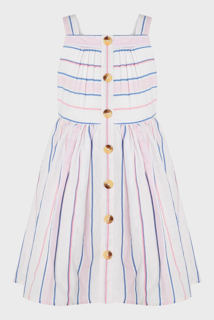 Детское белое платье Shelley Button Through