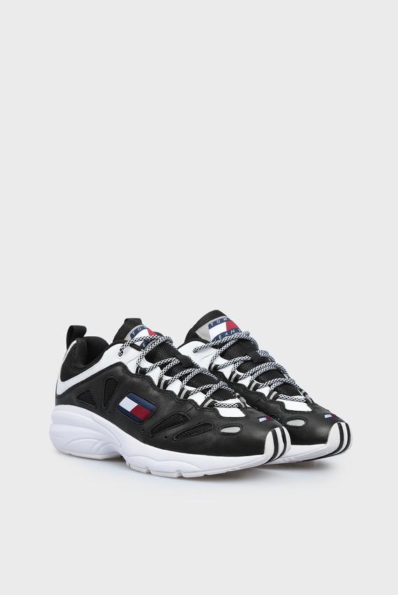 Мужские черные кожаные кроссовки HERITAGE RETRO