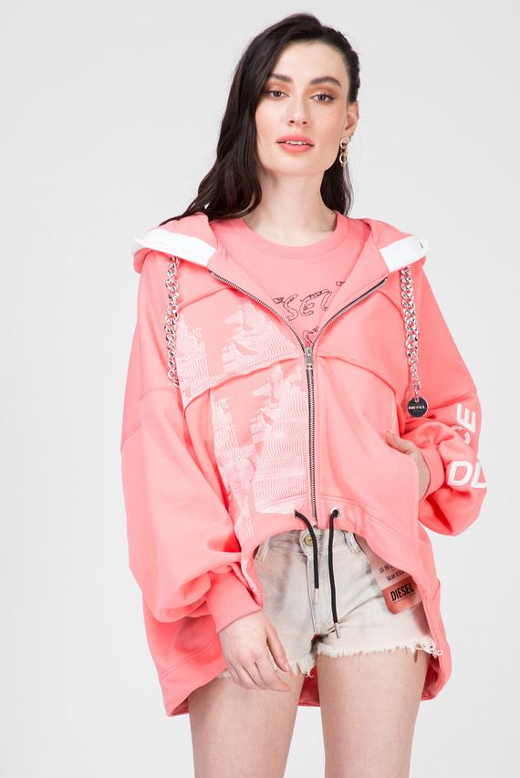Женское розовое худи F-BAILEY