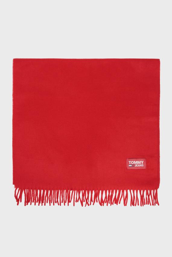 Женский красный шарф TJW FLAG LOGO
