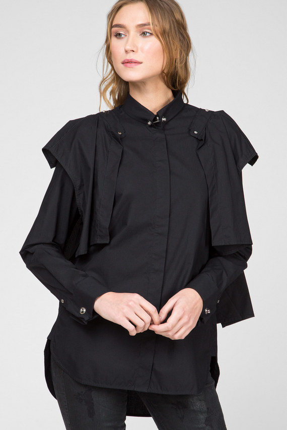 Женская черная рубашка C-RAILY-SHAPED