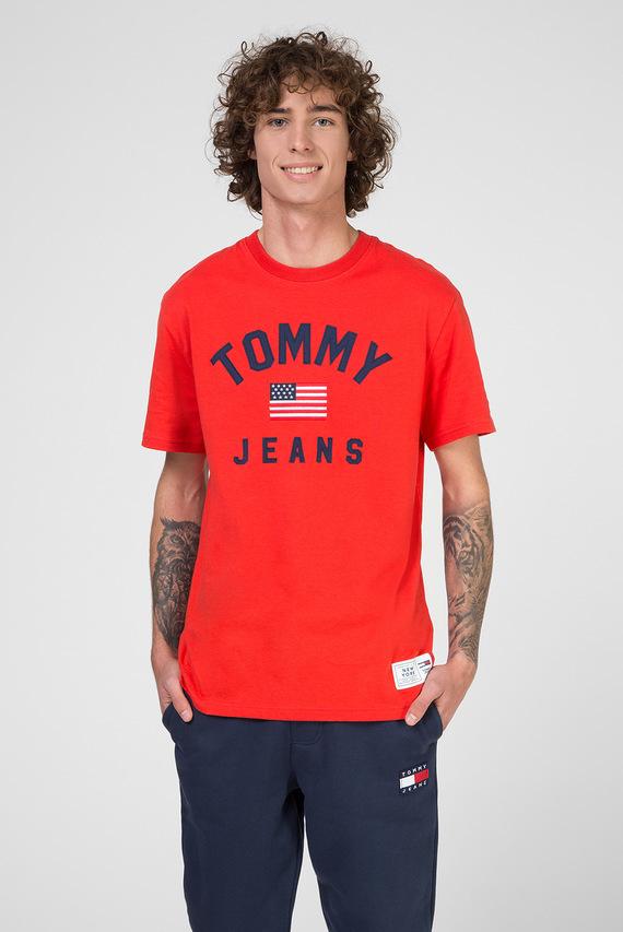 Мужская красная футболка TJM USA FLAG