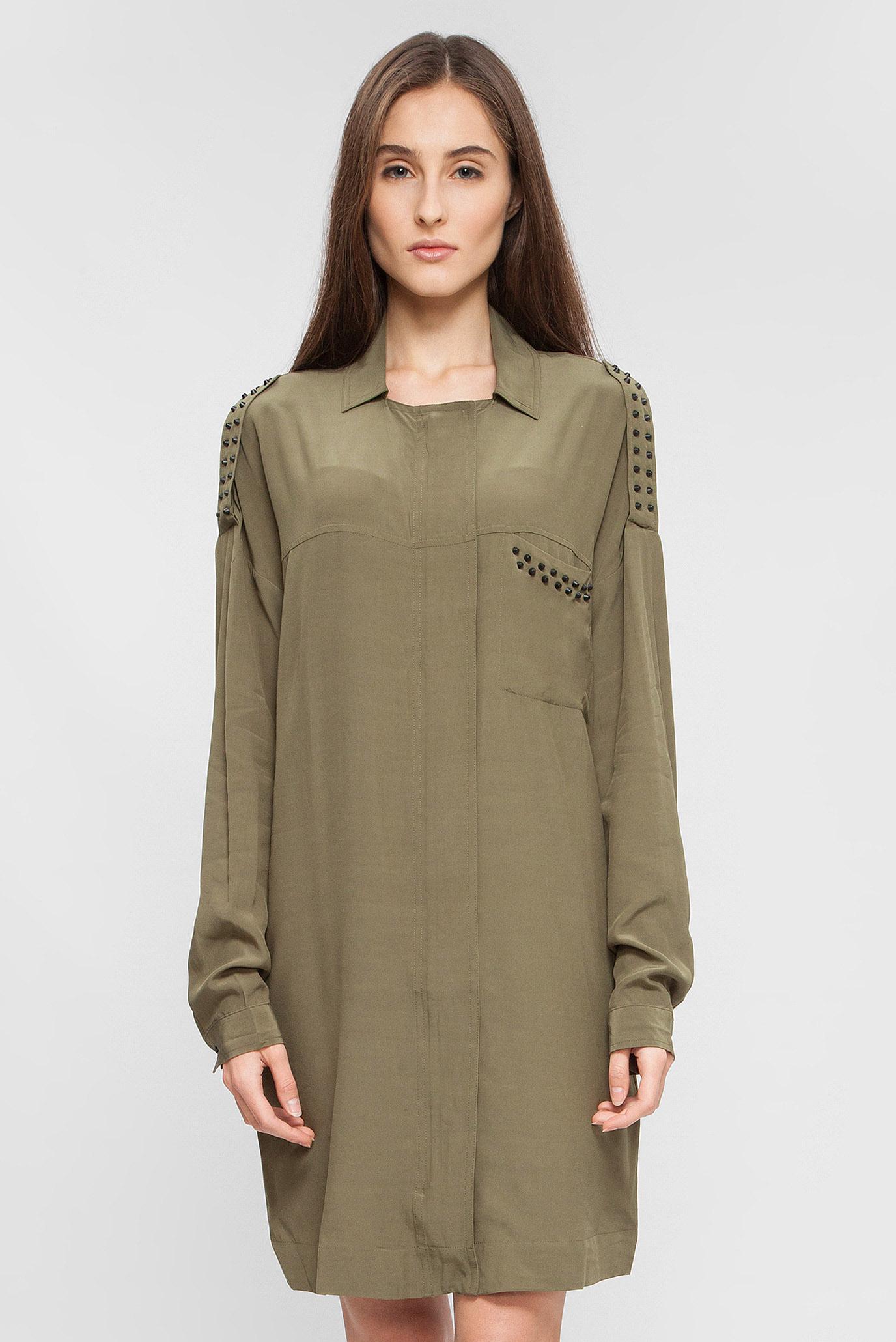 06b2b10f8bf Купить Женское зеленое платье-рубашка Replay Replay W9429 .000.82890 –  Киев