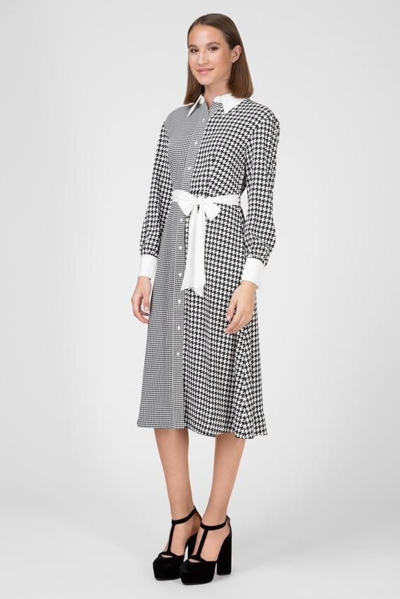 Женское платье-рубашка ZENDAYA HOUNDSTOOTH