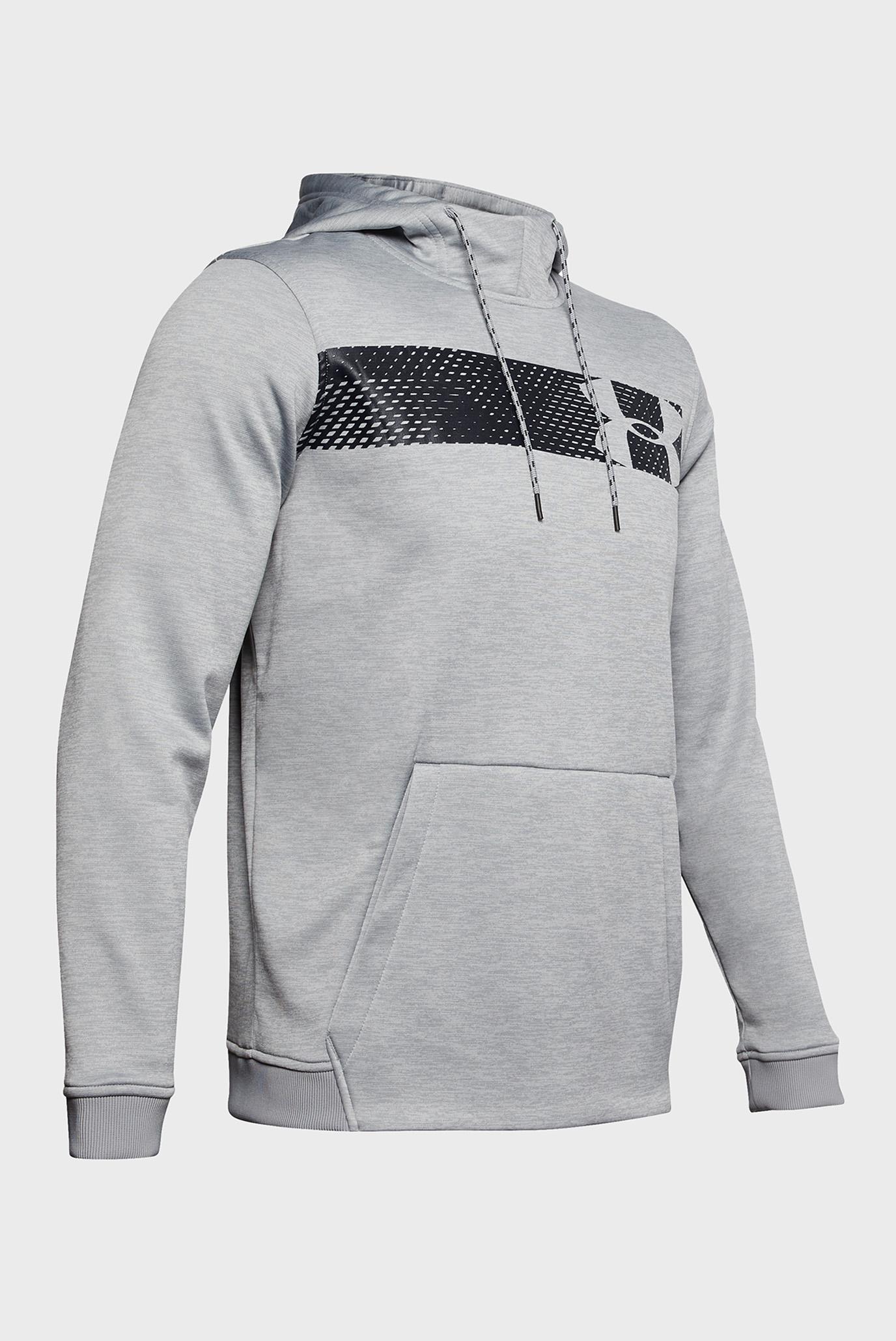 Мужское светло-серое худи AF PO Hoodie Bar Logo Graphic Under Armour