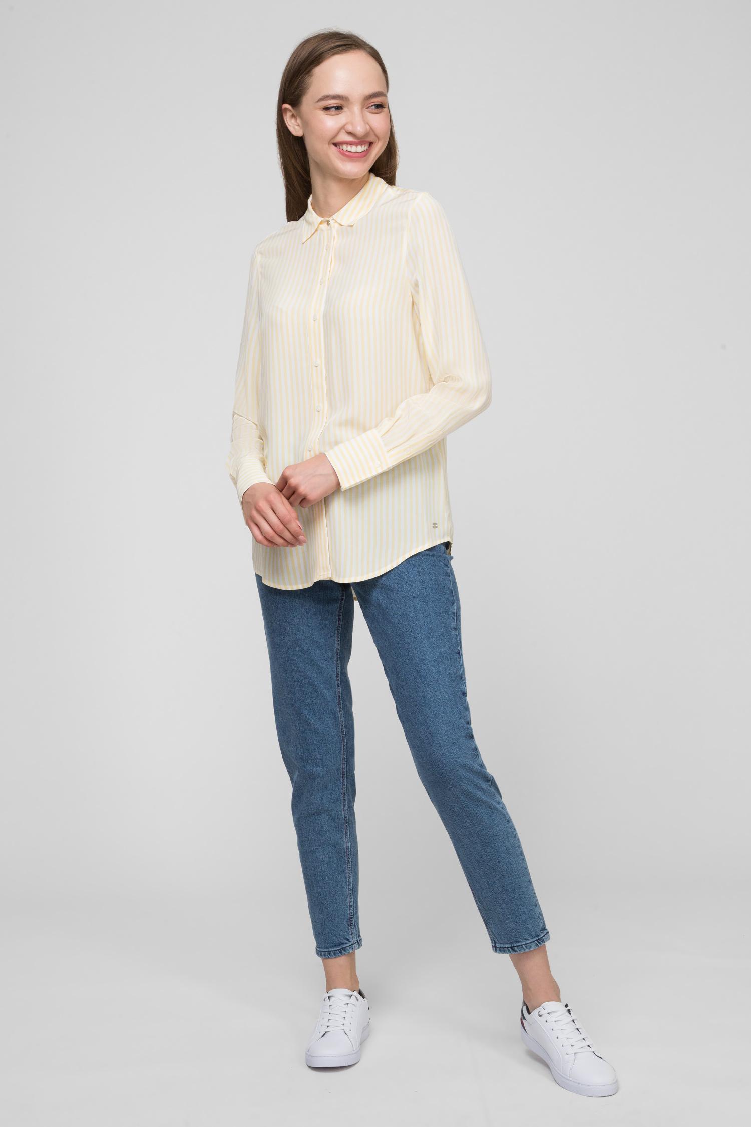 Купить Женская желтая рубашка в полоску FLEUR Tommy Hilfiger Tommy Hilfiger WW0WW24657 – Киев, Украина. Цены в интернет магазине MD Fashion
