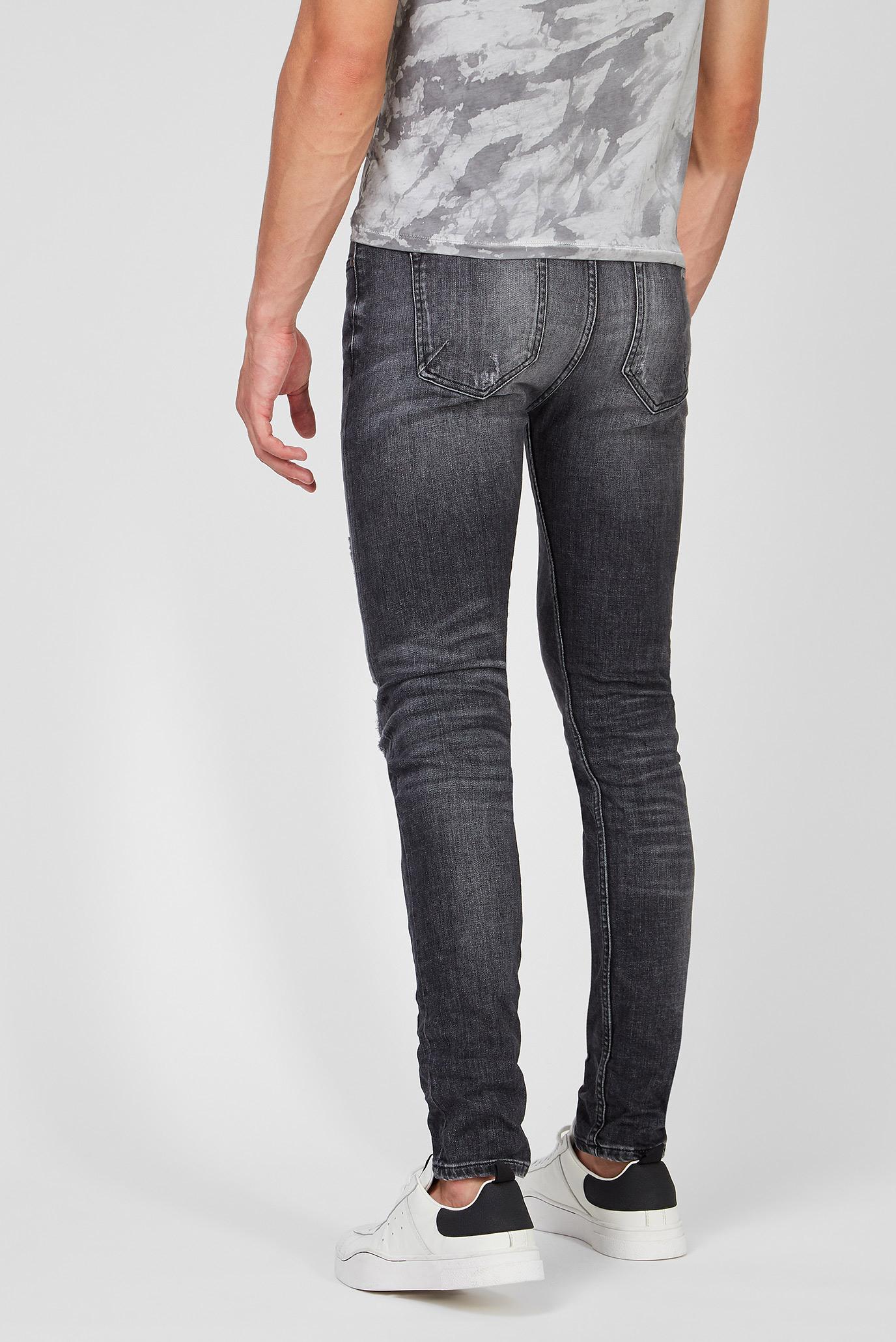 Мужские темно-серые джинсы Morten 9387 destroyed Tigha