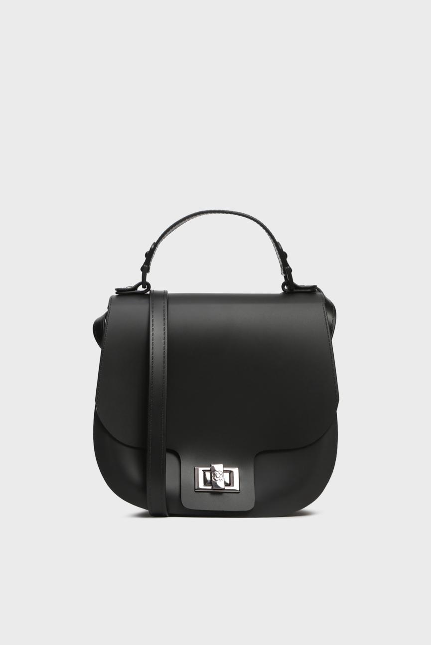Женская черная сумка через плечо SADDLE BAG