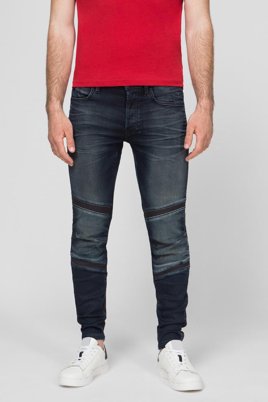 Мужские темно-синие джинсы Motac Deconstructed 3D Slim