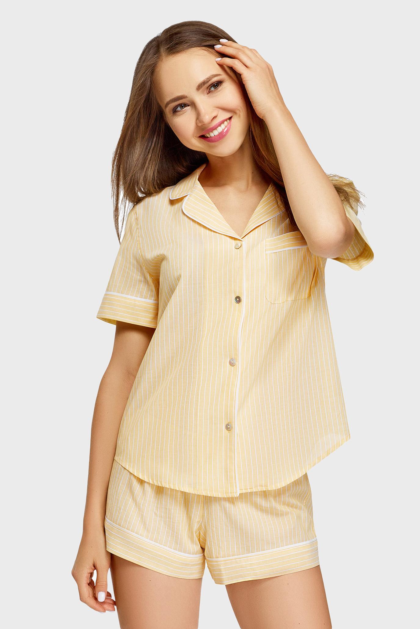Женская желтая рубашка 1