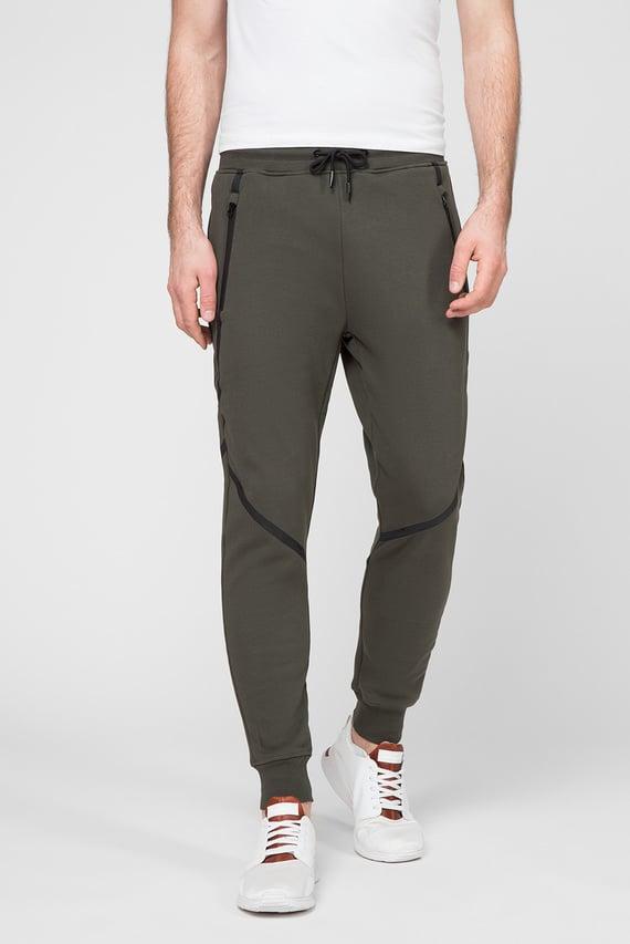 Мужские зеленые спортивные брюки