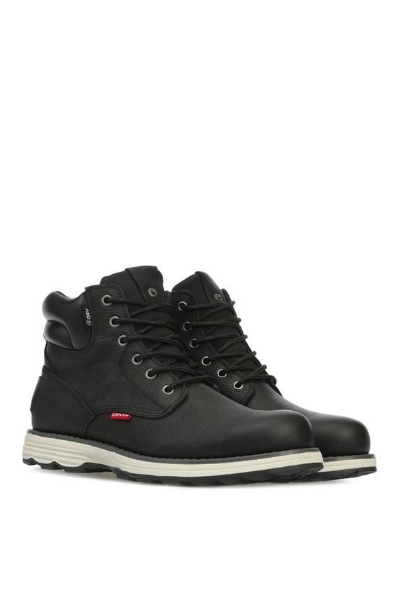 Мужские черные кожаные ботинки
